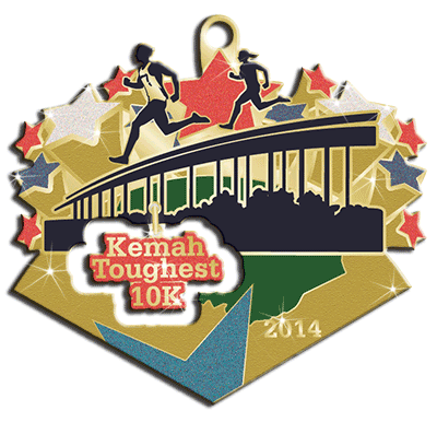 2014 Toughest 10K medal